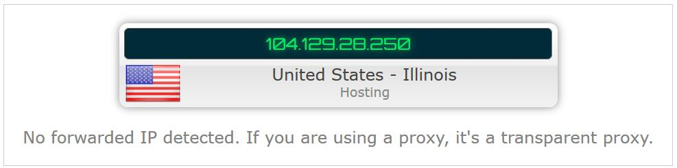transparent proxy of hosting IP